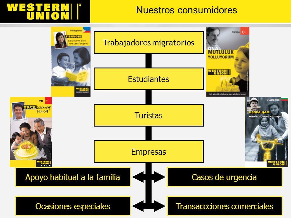 Apoyo habitual a la familia Trabajadores migratorios Estudiantes Turistas Empresas Casos de urgencia Transaccciones comercialesOcasiones especiales Nu