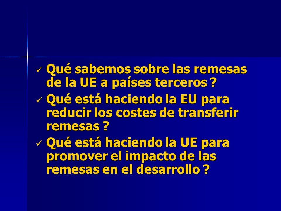 Qué sabemos sobre las remesas de la UE a países terceros .
