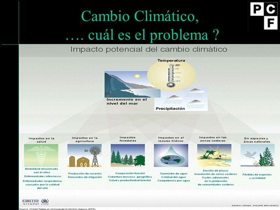Cambio Climático, …. cuál es el problema
