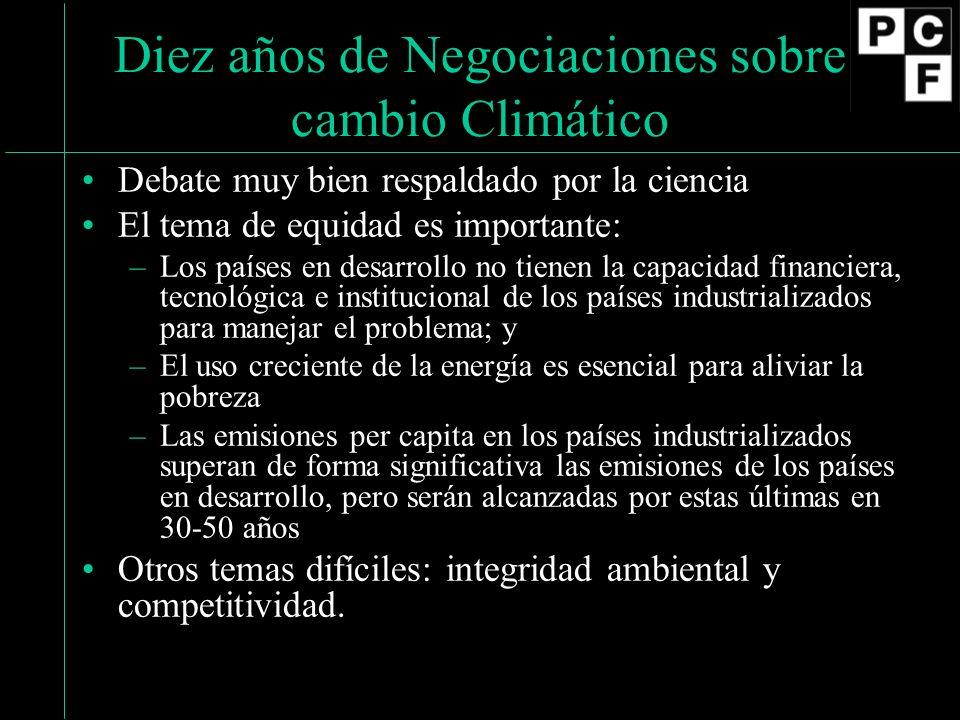 El Protocolo de Kyoto (1) Estatus: Firmado: Diciembre 1997.