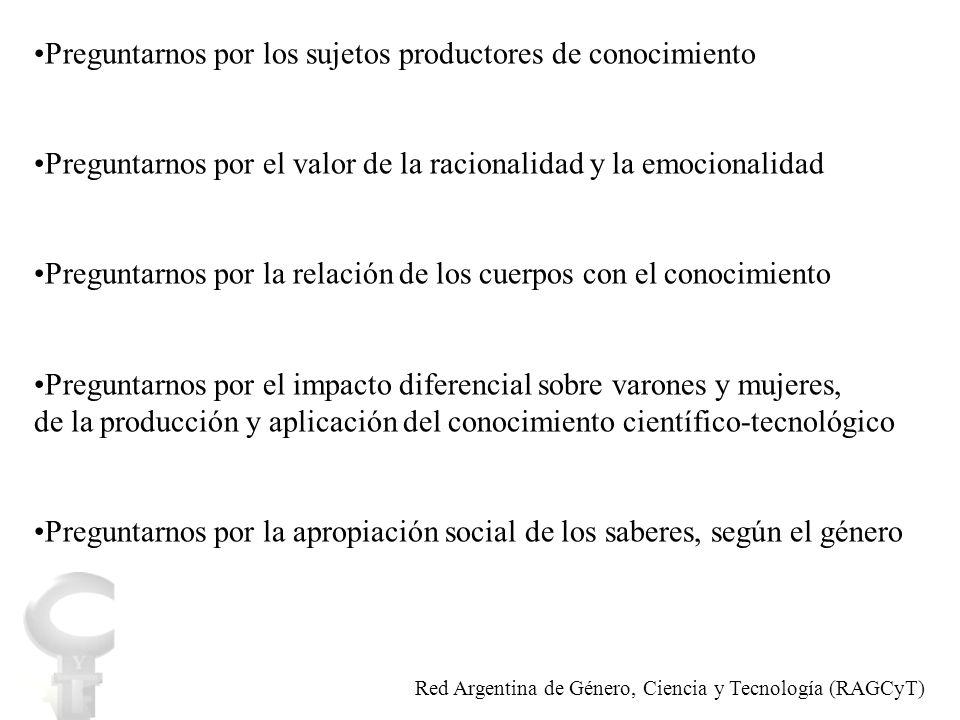 Alfabetización científico-tecnológica Red Argentina de Género, Ciencia y Tecnología (RAGCyT)
