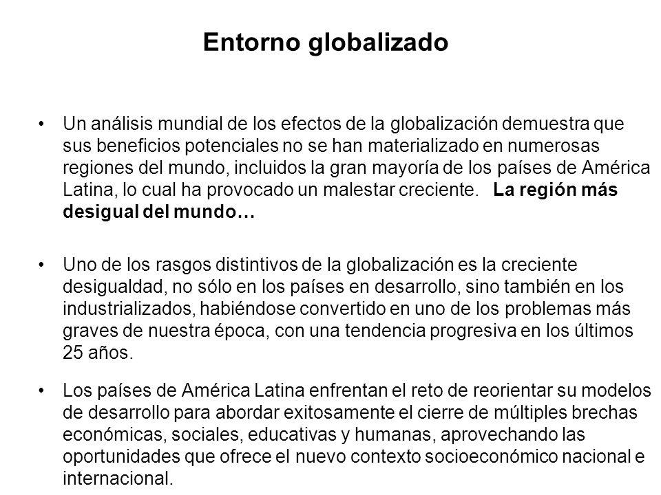 Entorno globalizado Un análisis mundial de los efectos de la globalización demuestra que sus beneficios potenciales no se han materializado en numeros