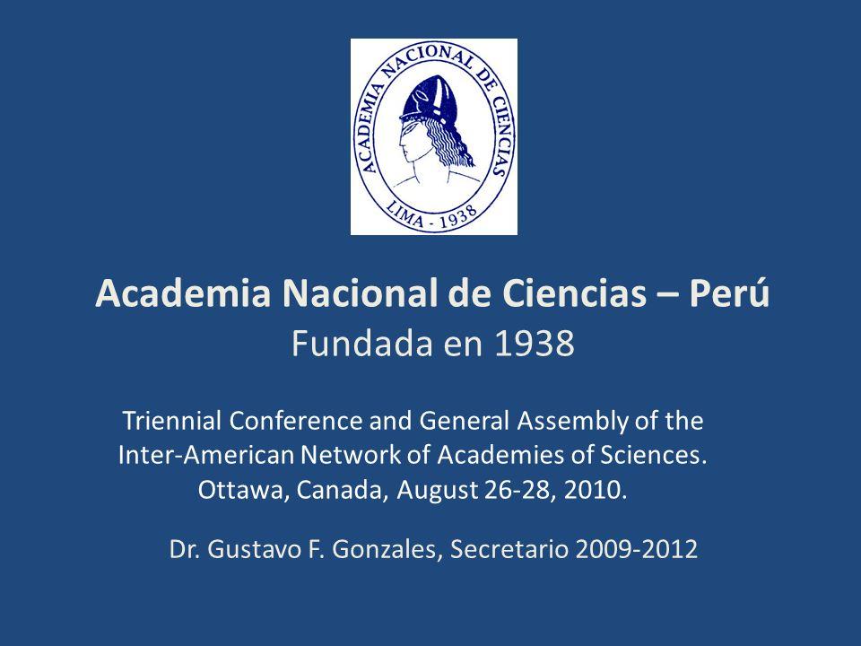 PRESIDENCIA DE LA ACADEMIA NACIONAL DE CIENCIAS: Ing.