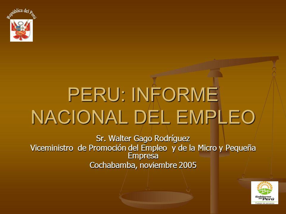 PERU: INFORME NACIONAL DEL EMPLEO Sr.