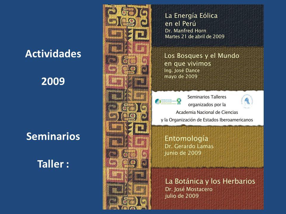 Actividades 2009 Seminarios Taller :
