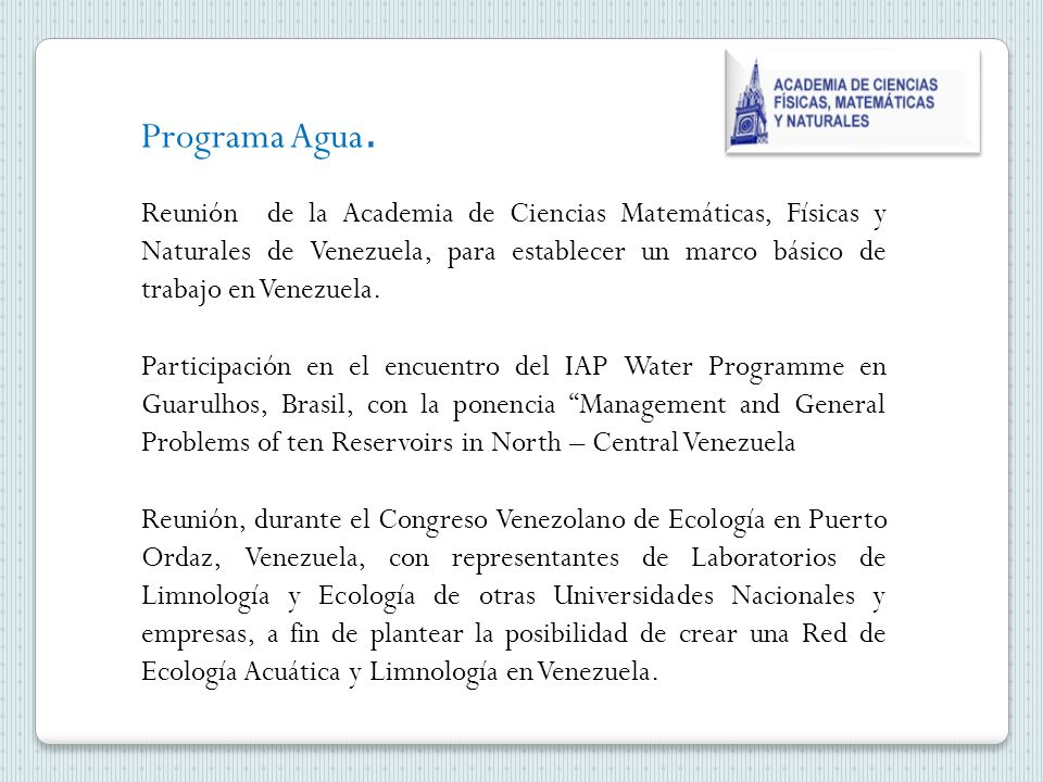 Programa Agua.