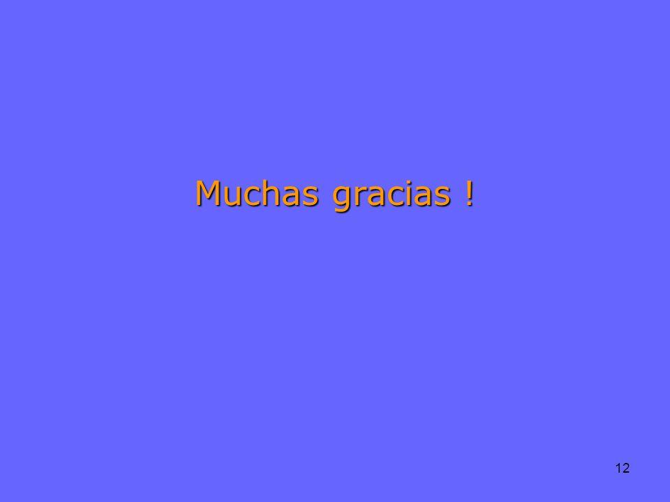 12 Muchas gracias !