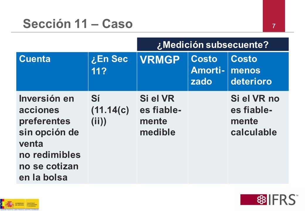 8 Sección 11 – Caso ¿Medición subsecuente.Cuenta¿En Sec 11.