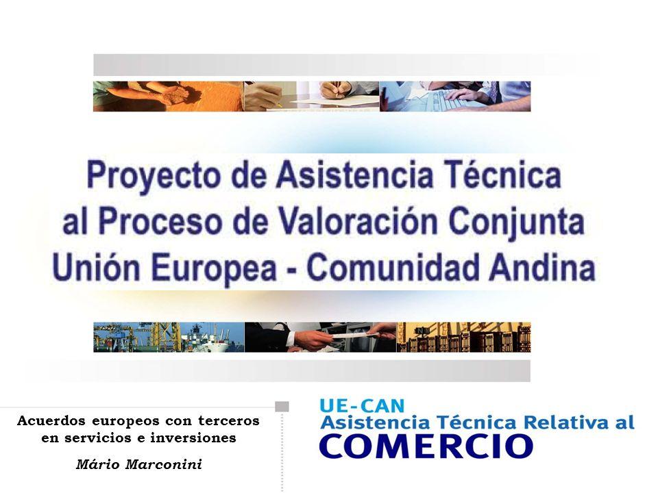 Acuerdos europeos con terceros en servicios e inversiones Mário Marconini