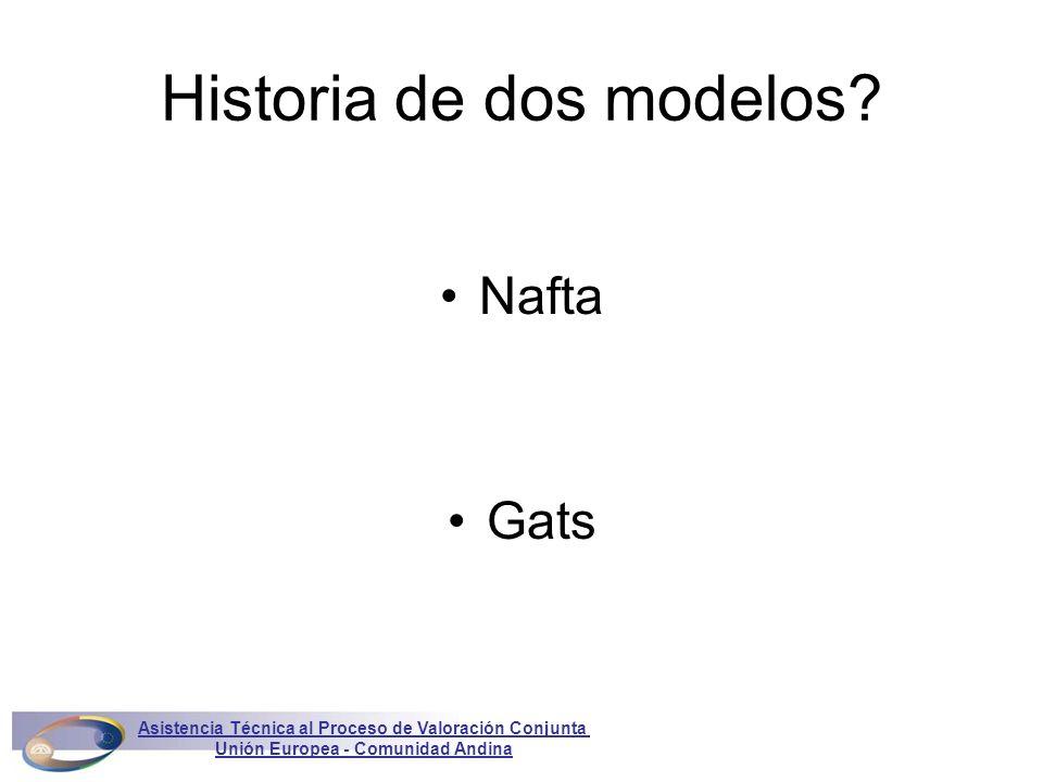 Historia de dos modelos? Nafta Gats Asistencia Técnica al Proceso de Valoración Conjunta Unión Europea - Comunidad Andina