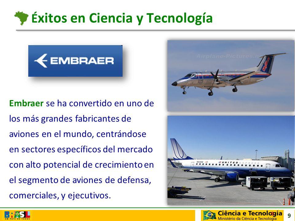 9 Embraer se ha convertido en uno de los más grandes fabricantes de aviones en el mundo, centrándose en sectores específicos del mercado con alto pote
