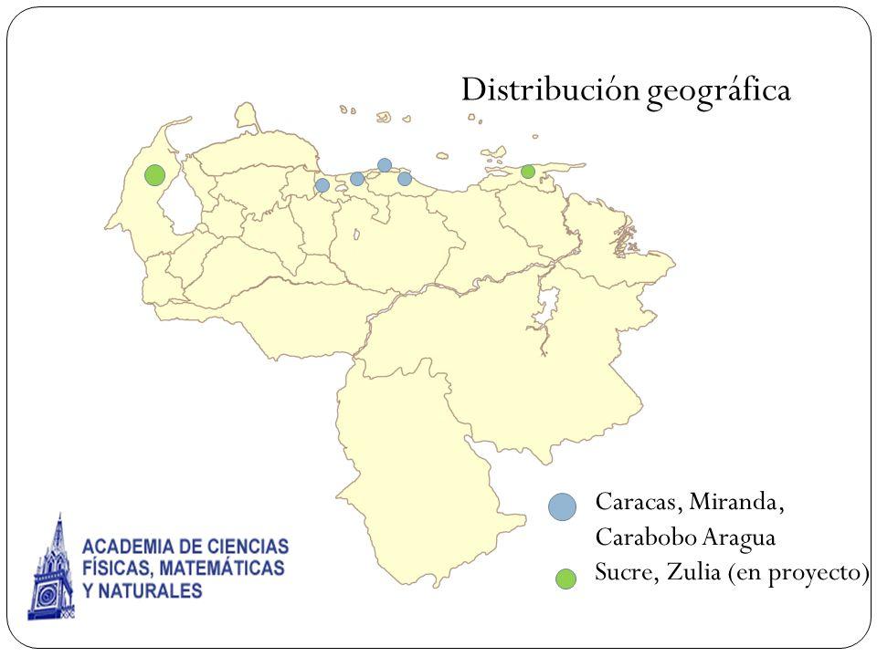 Caracas, Miranda, Carabobo Aragua Sucre, Zulia (en proyecto) Distribución geográfica