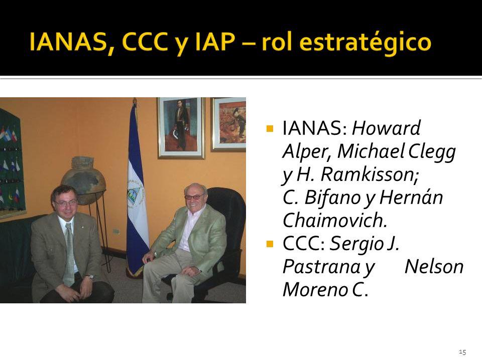 15 IANAS: Howard Alper, Michael Clegg y H. Ramkisson; C.