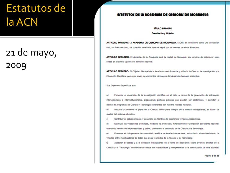Estatutos de la ACN 21 de mayo, 2009