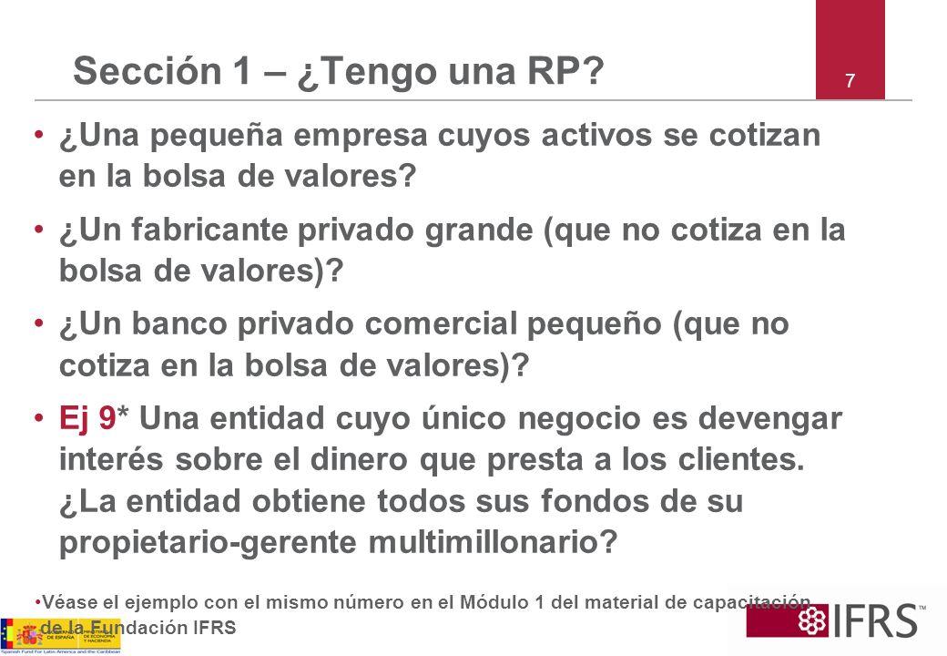 8 Sección 1 – ¿tengo una RP.