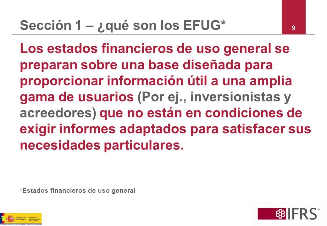 Sección 1 – ¿Los estados Financieros de PYMES son EFUG.