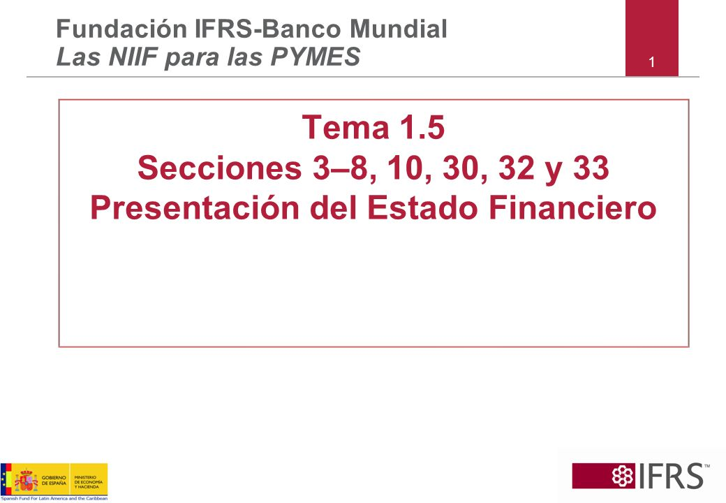 42 Las NIIF para las PYMES Sección 6 Estado de Cambios en el Patrimonio y Estado de Resultados y Ganancias Acumuladas