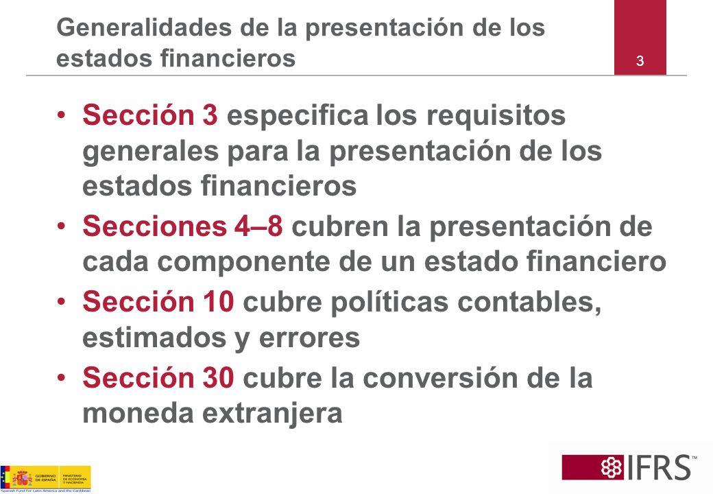 84 Sección 10 – Excepción de impracticabilidad Ejemplo 21*: Los hechos son los mismos que en el Ejemplo 20, excepto que no es práctico determinar los efectos en periodos individuales del cambio en la política.