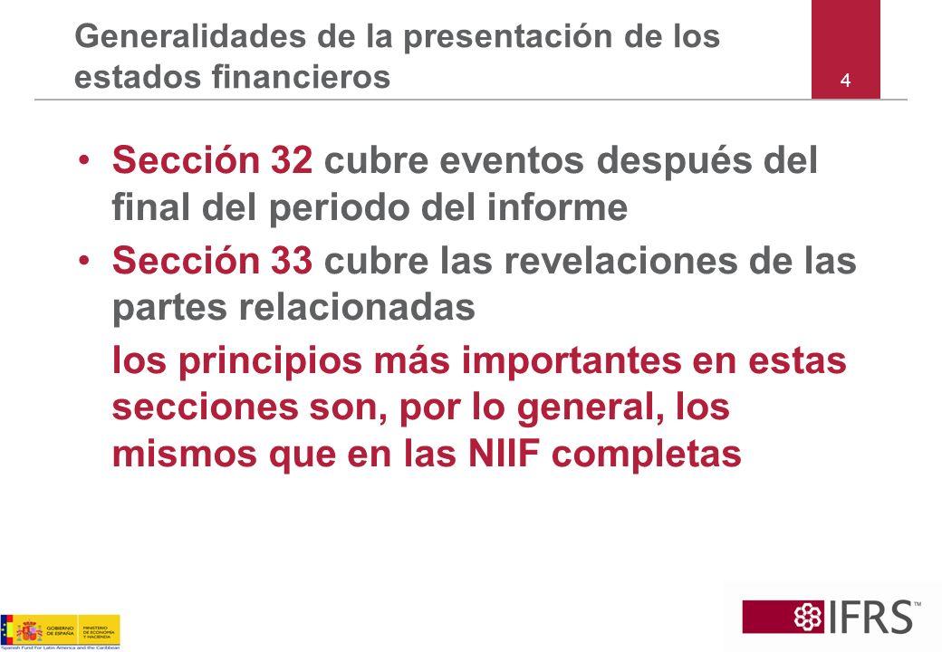 75 Las NIIF para las PYMES Sección 10 Políticas Contables, Estimaciones y Errores