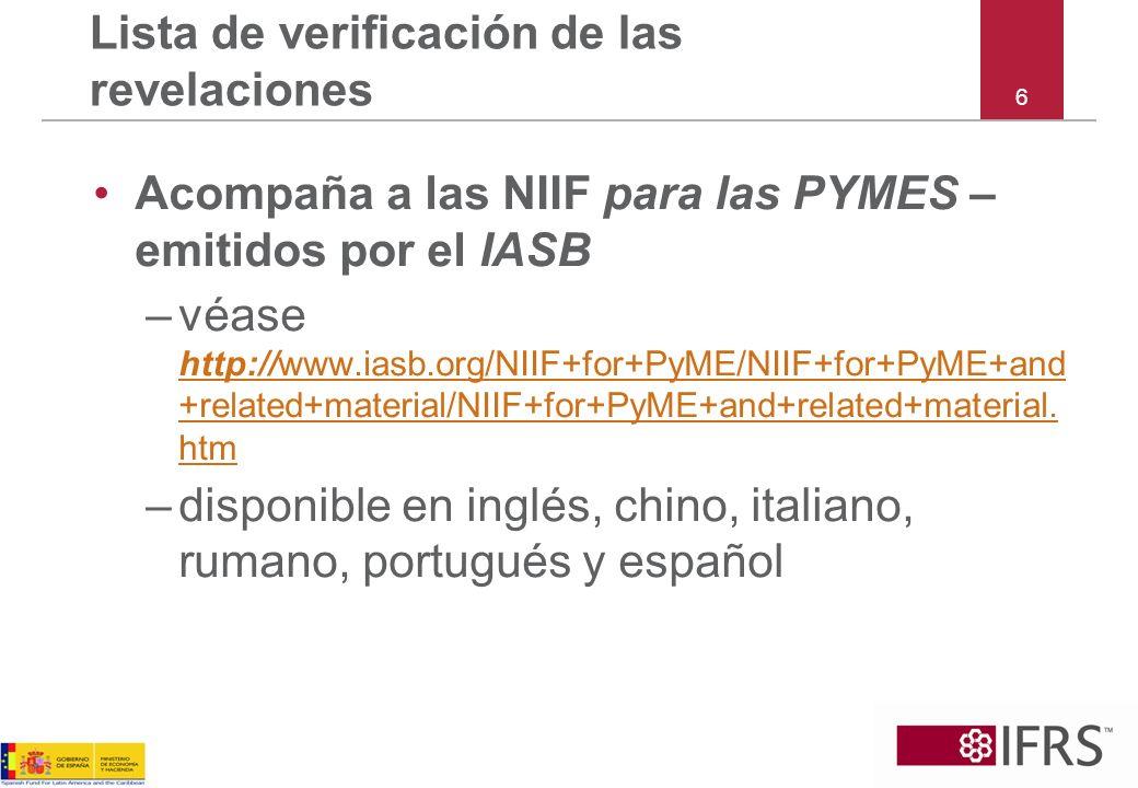117 Las NIIF para las PYMES Sección 33 Revelaciones de las Partes Relacionadas