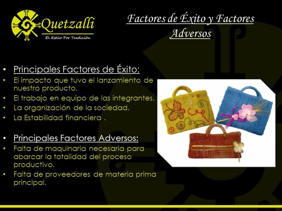 Factores de Éxito y Factores Adversos Principales Factores de Éxito: El impacto que tuvo el lanzamiento de nuestro producto. El trabajo en equipo de l