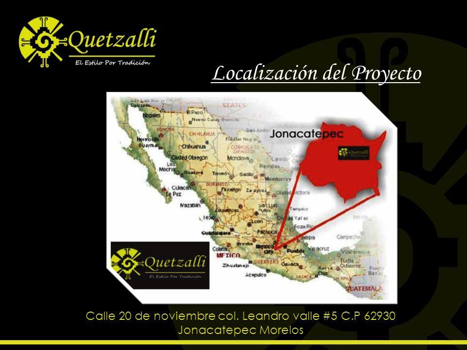 Localización del Proyecto Calle 20 de noviembre col. Leandro valle #5 C.P 62930 Jonacatepec Morelos