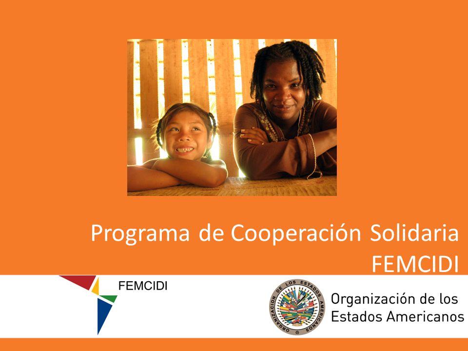 Programa de Cooperación Solidaria FEMCIDI