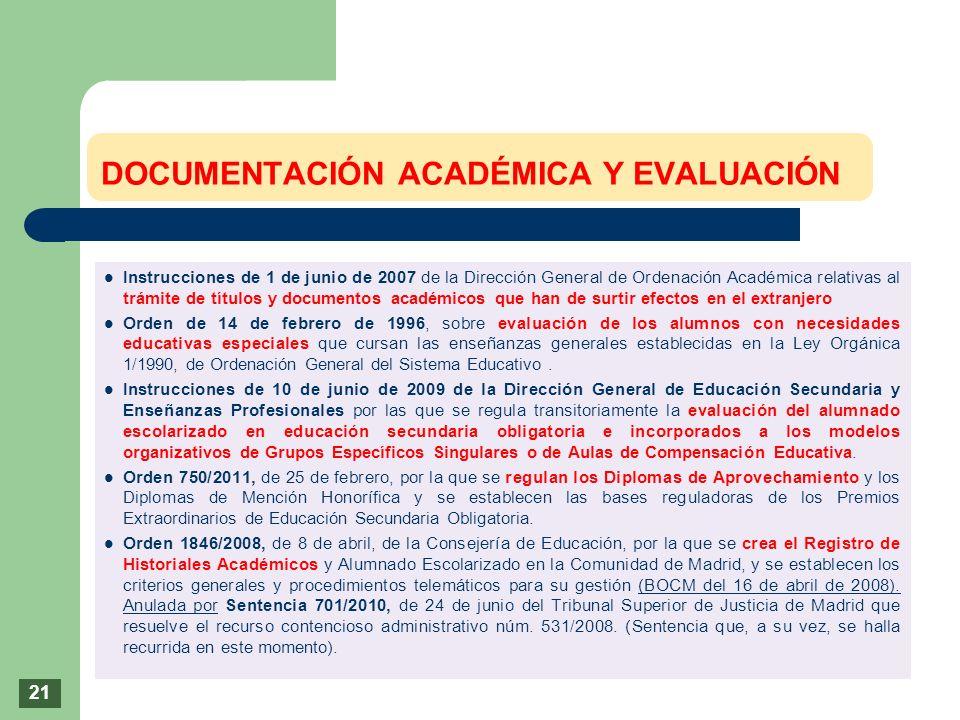 Instrucciones de 1 de junio de 2007 de la Dirección General de Ordenación Académica relativas al trámite de títulos y documentos académicos que han de