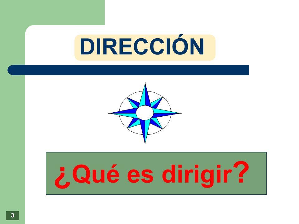 DIRECCIÓN ¿ Qué es dirigir ? 3
