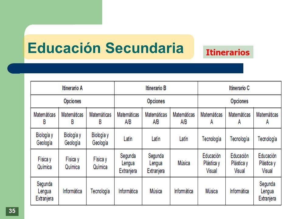 Educación Secundaria Itinerarios 35
