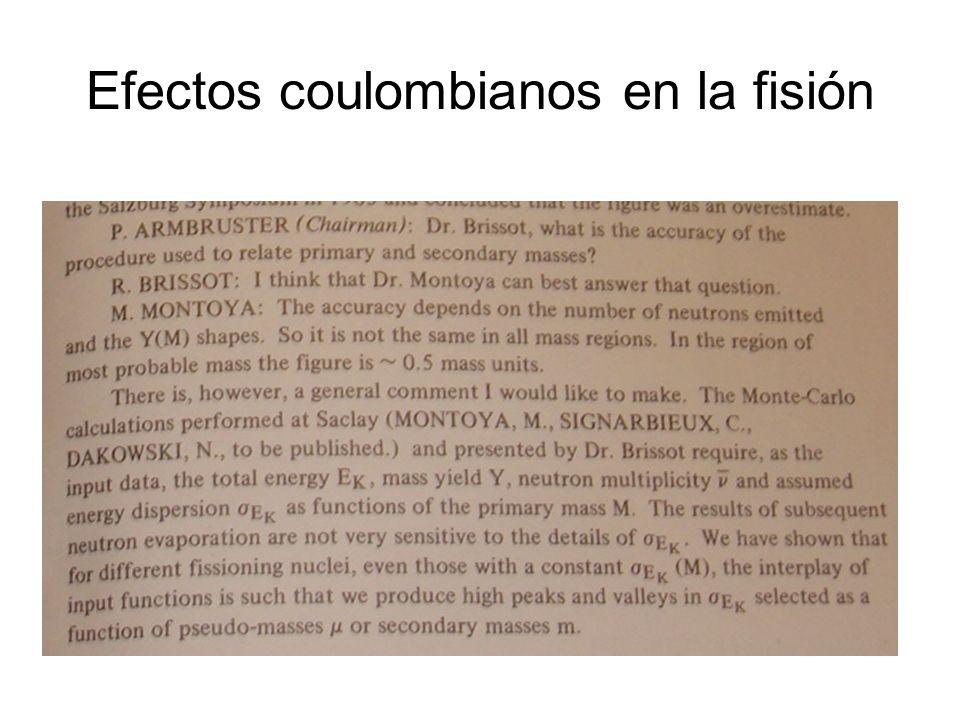 Efectos coulombianos en la fisión