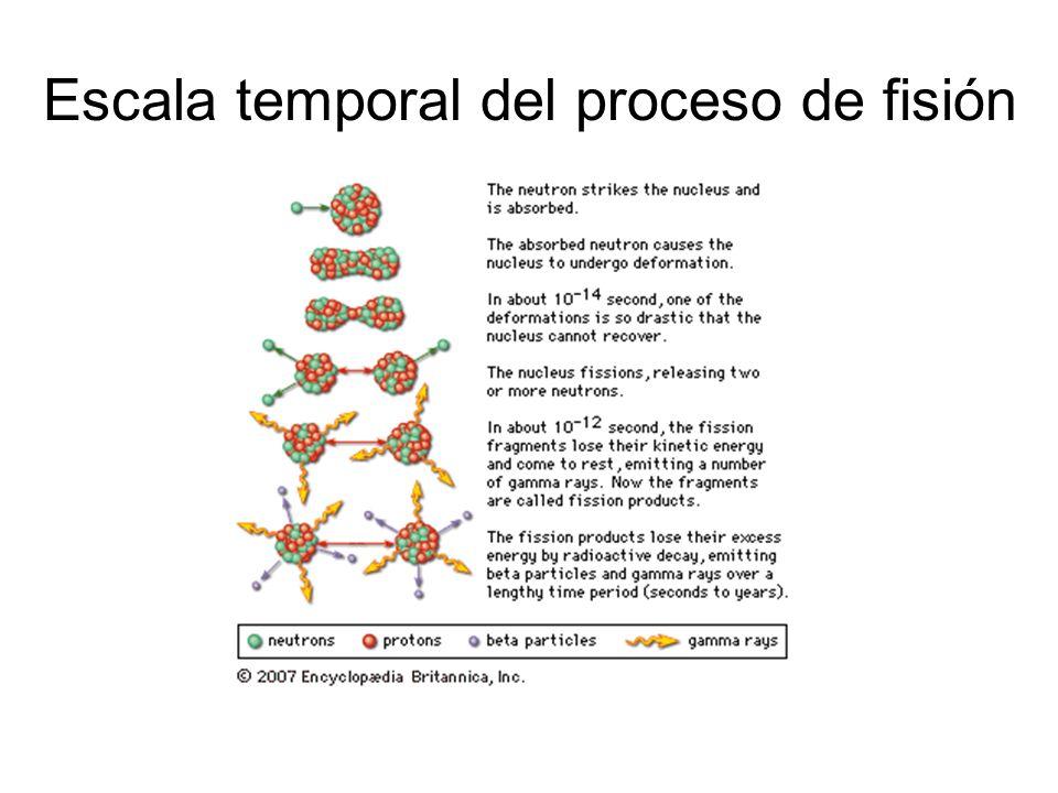 Escala temporal del proceso de fisión