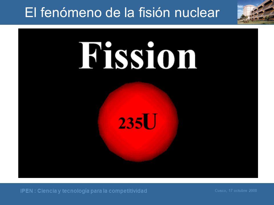 IPEN : Ciencia y tecnología para la competitividad Cusco, 17 octubre 2008 El fenómeno de la fisión nuclear