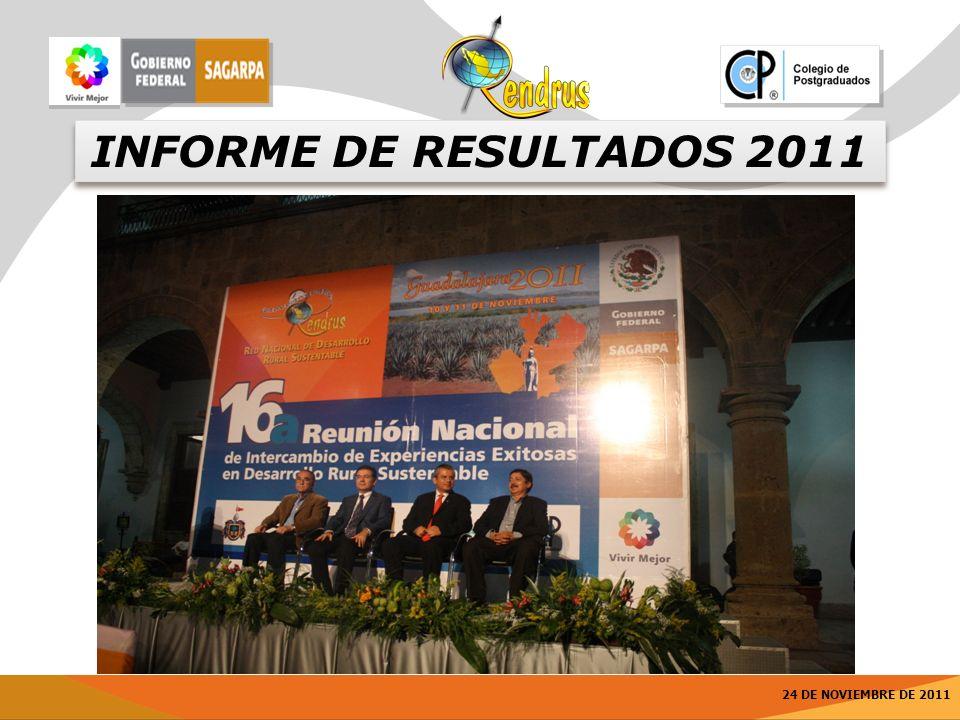 24 DE NOVIEMBRE DE 2011 INFORME DE RESULTADOS 2011