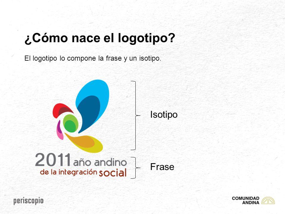 ¿Cómo nace el logotipo? El logotipo lo compone la frase y un isotipo. Isotipo Frase