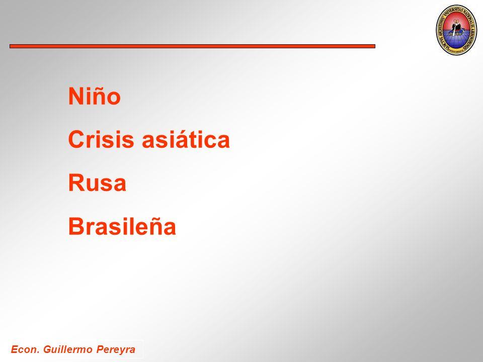 Niño Crisis asiática Rusa Brasileña