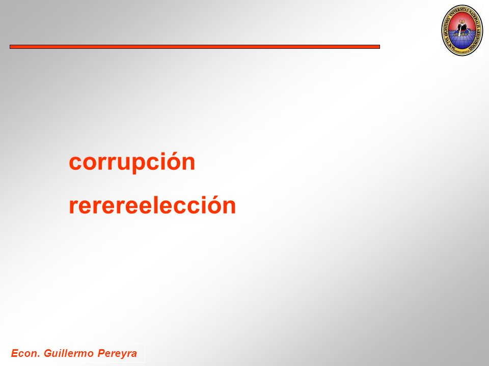 corrupción rerereelección