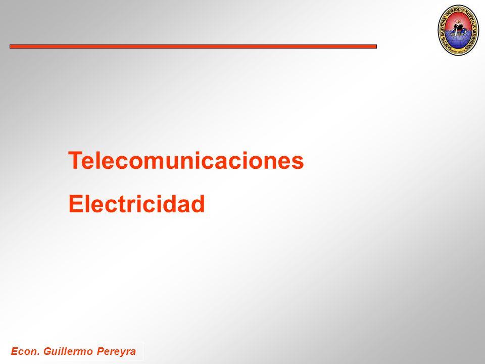 Econ. Guillermo Pereyra Telecomunicaciones Electricidad