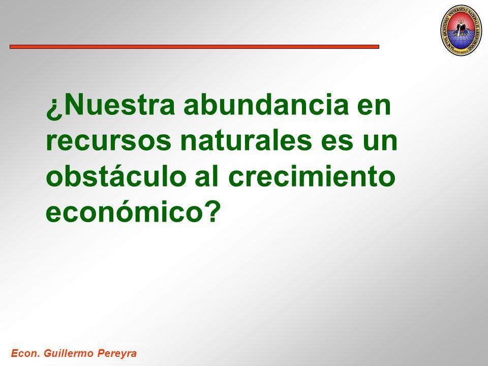 ¿Nuestra abundancia en recursos naturales es un obstáculo al crecimiento económico