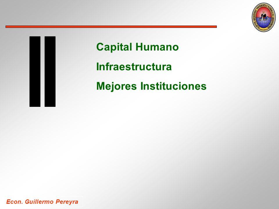 Econ. Guillermo Pereyra Capital Humano Infraestructura Mejores Instituciones