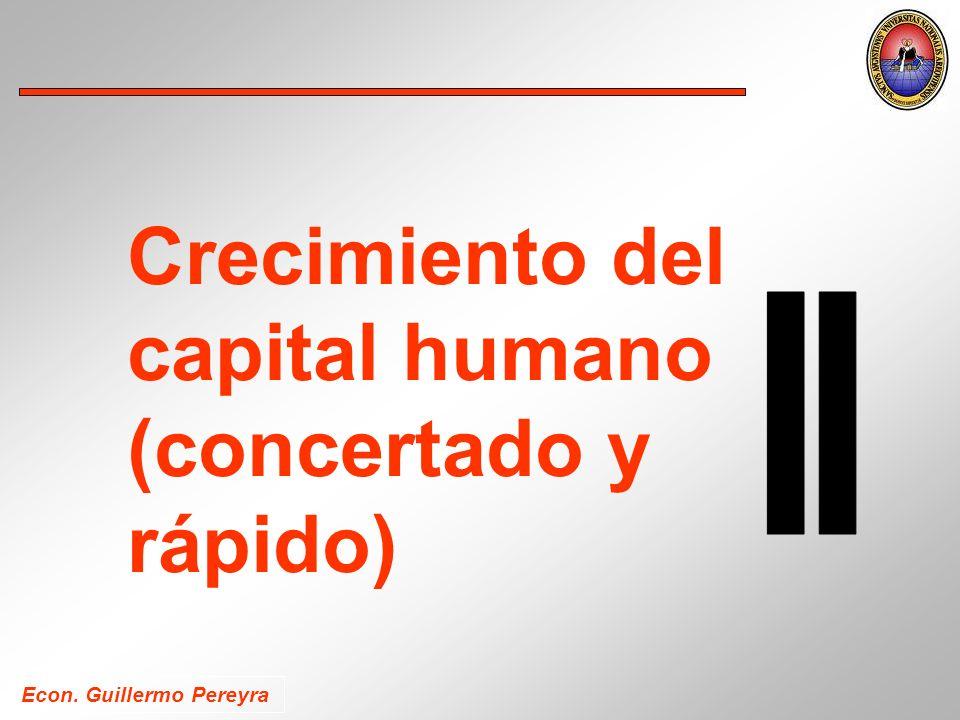 Econ. Guillermo Pereyra Crecimiento del capital humano (concertado y rápido)