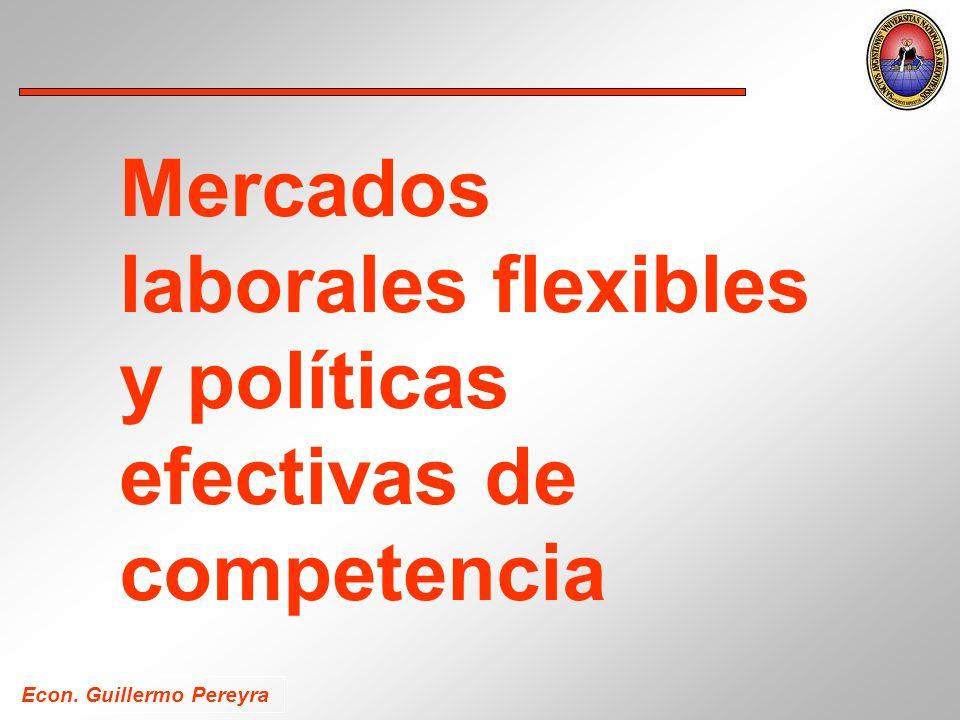 Econ. Guillermo Pereyra Mercados laborales flexibles y políticas efectivas de competencia