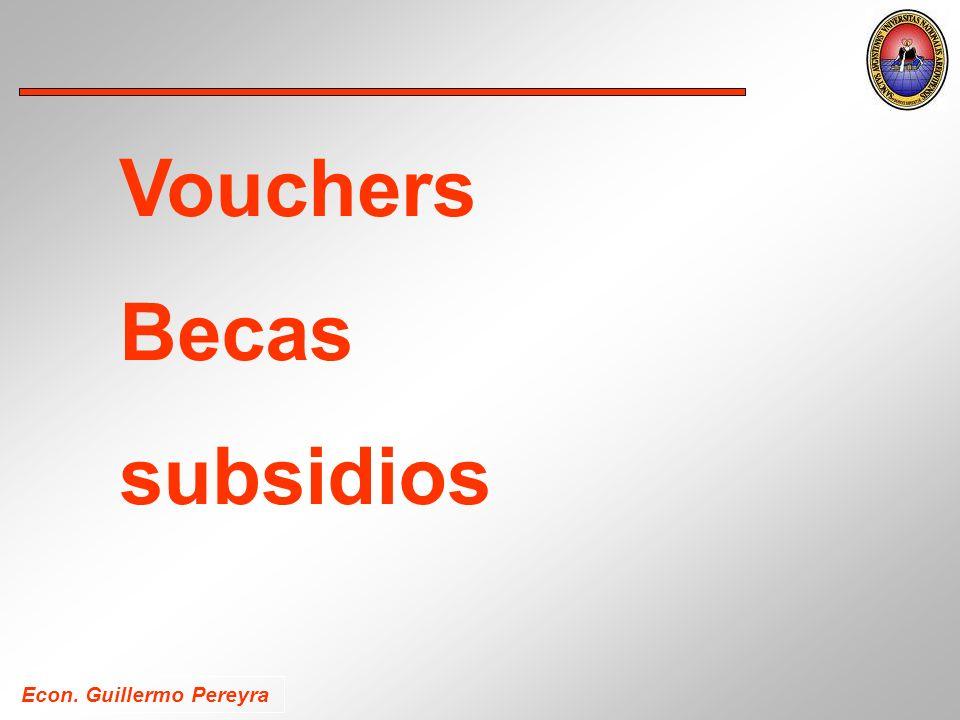 Econ. Guillermo Pereyra Vouchers Becas subsidios