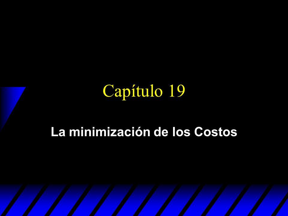 Cost Minimization Una empresa es minimizadora de costos si obtiene cualquier nivel de producción y 0 al costo más bajo posible.