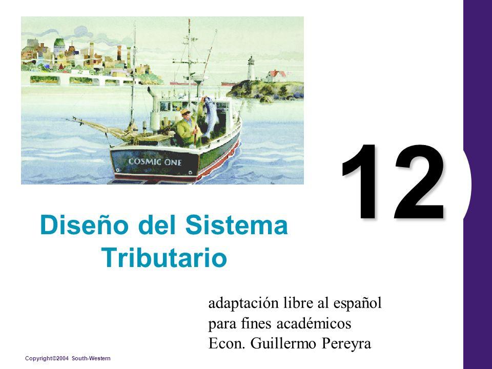 Copyright©2004 South-Western 12 Diseño del Sistema Tributario adaptación libre al español para fines académicos Econ.