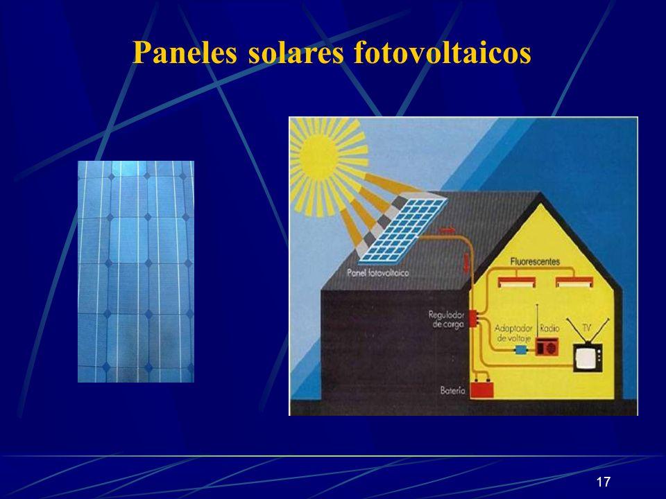 17 Paneles solares fotovoltaicos