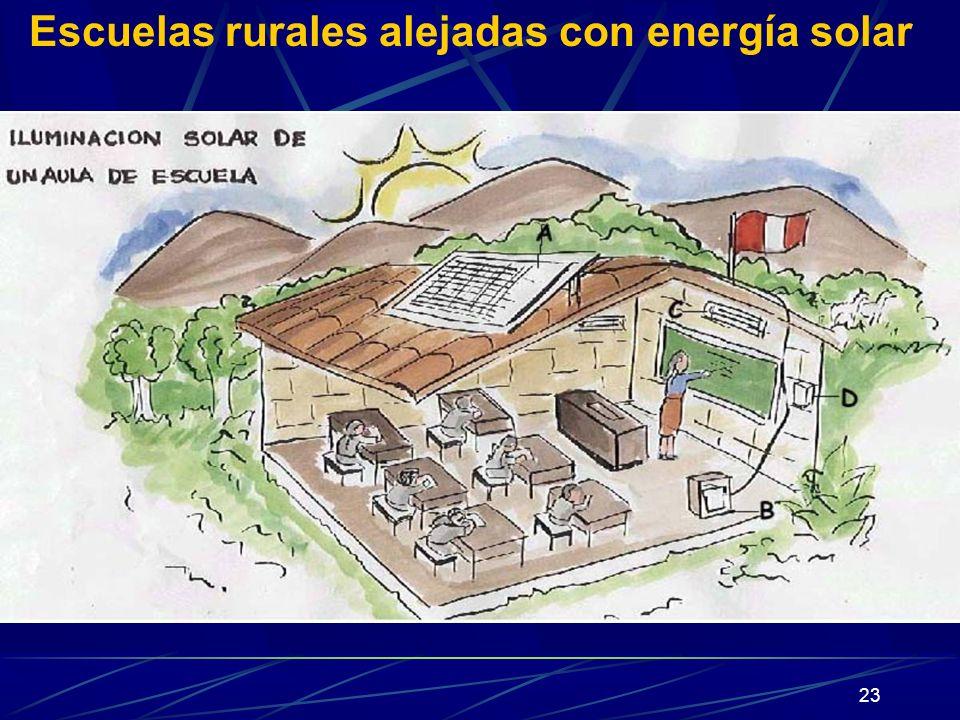 23 Escuelas rurales alejadas con energía solar
