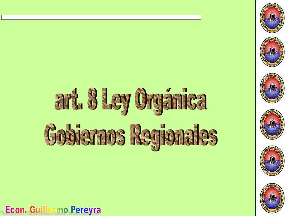 El Gobierno Regional tiene como objetivo la gestión estratégica de la competitividad regional.