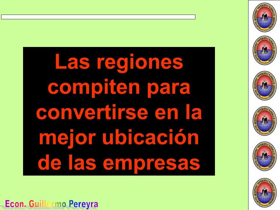 Las regiones compiten para convertirse en la mejor ubicación de las empresas