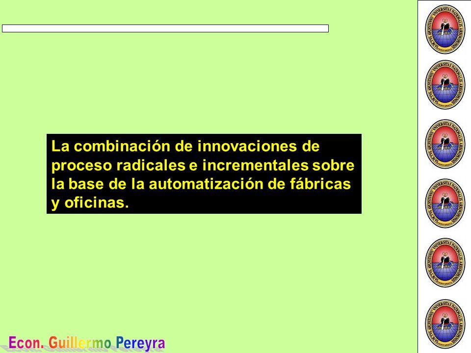 La combinación de innovaciones de proceso radicales e incrementales sobre la base de la automatización de fábricas y oficinas.